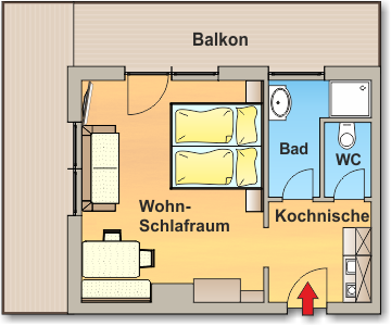 Skizze Appartement 2 - Ahlhof, Untertal