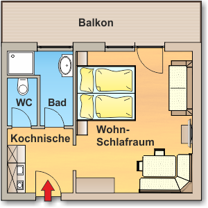 Skizze Appartement 3 - Ahlhof, Untertal