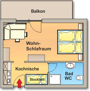 Skizze Appartement 7 - Ahlhof, Untertal